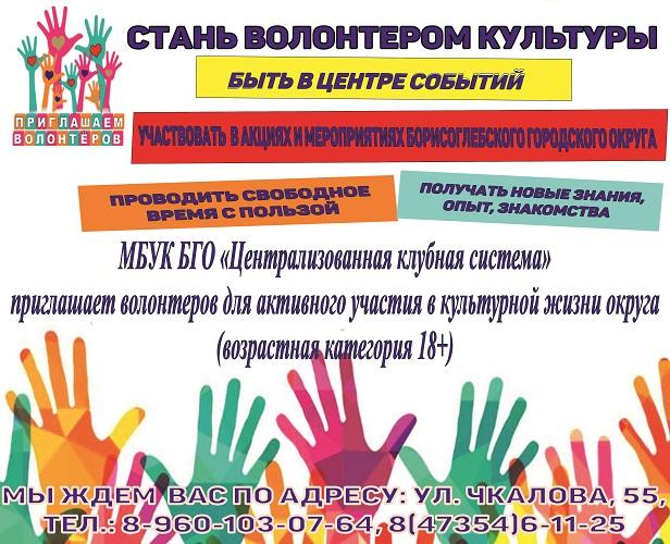 Стань волонтером культуры!